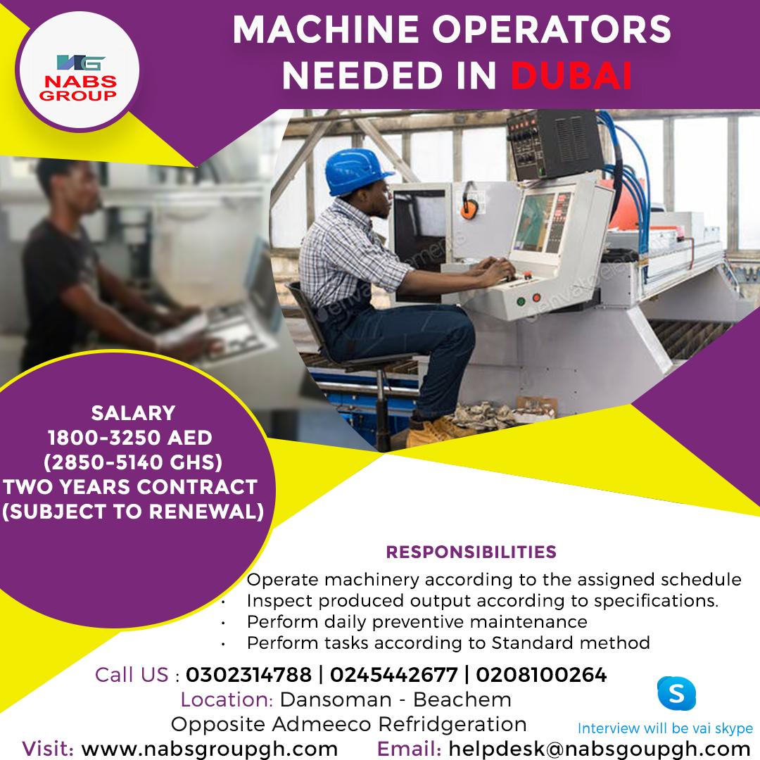 MACHINE OPERATOR NEEDED