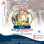 CIVIL SUPERVISORS NEEDED IN QATAR