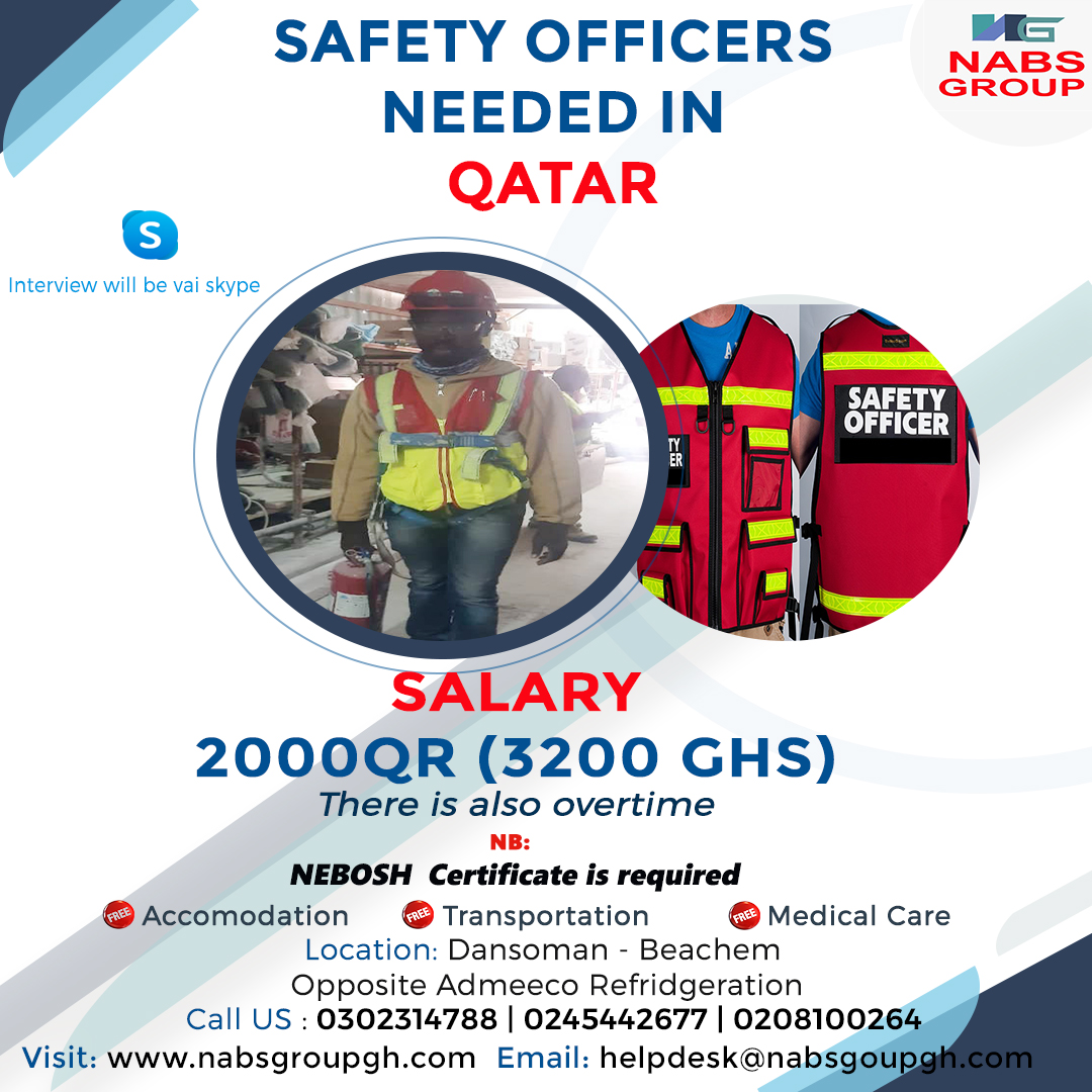 SAFETY OFFICERS NEEDED IN QATAR